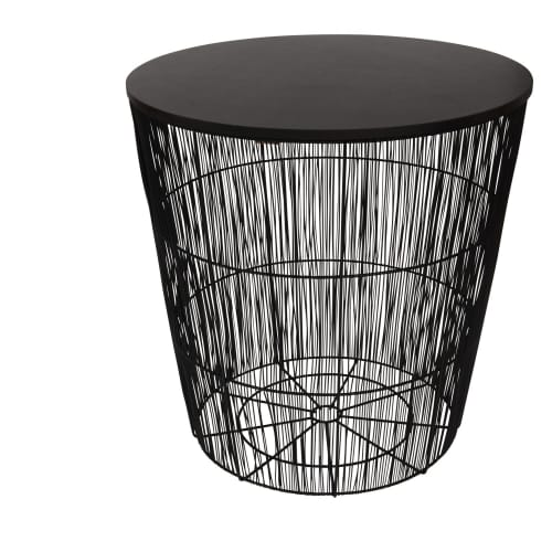 Black Wire Side Table by