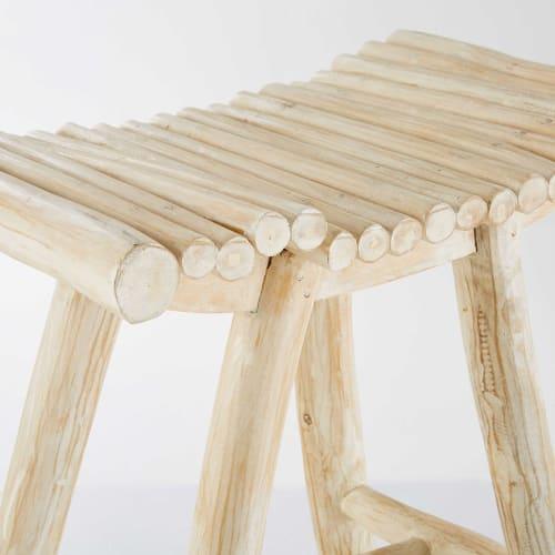 Retail Furniture Bandung: Bleached Teak Stool Bandung