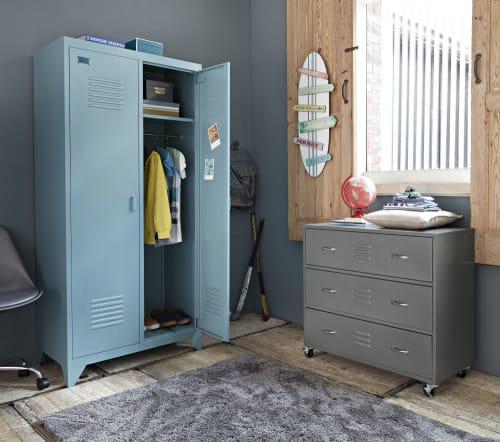Blue Newport 2 Door Wardrobe