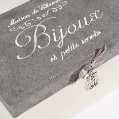 Boite A Bijoux Beige Et Grise Secrets Maisons Du Monde