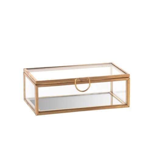 Boîte à bijoux en verre et métal doré  Maisons du Monde