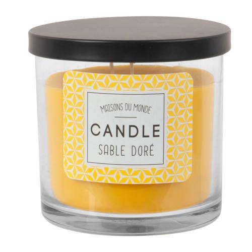 Bougie parfumée en verre jaune  Maisons du Monde