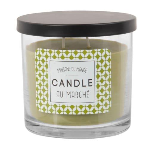 Engels Bougies parfums dans le verre Clara feuilles verte ombre Bougie Parfumée Parfum Bougie 8 cm