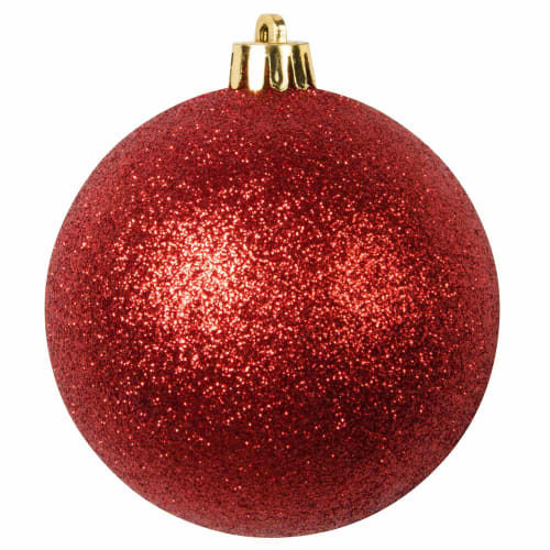 Boule de Noël rouge à paillettes | Maisons du Monde