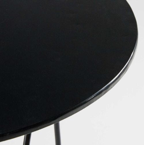 Bout de canapé en métal noir