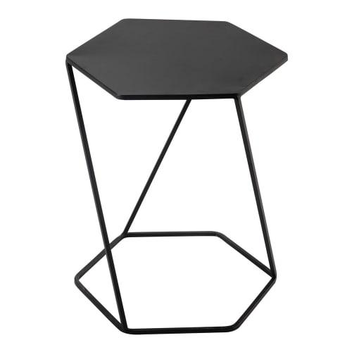 Bout De Canapé En Métal Noir L 45 Cm Maisons Du Monde