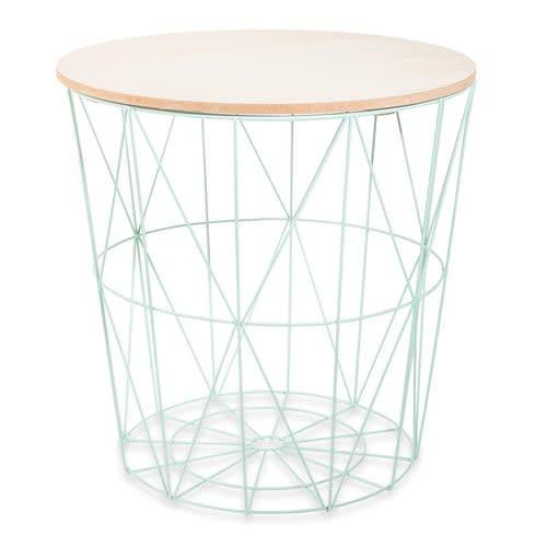 design de qualité 4d10e 5daf6 Bout de canapé filaire vert