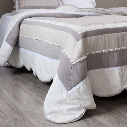 Boutis en coton motifs à rayures 240x260