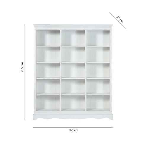 Bücherregal aus Paulownienholz, weiß Joséphine | Maisons du