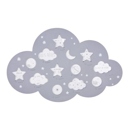 Cadre multivues nuage 12 photos gris 50x32