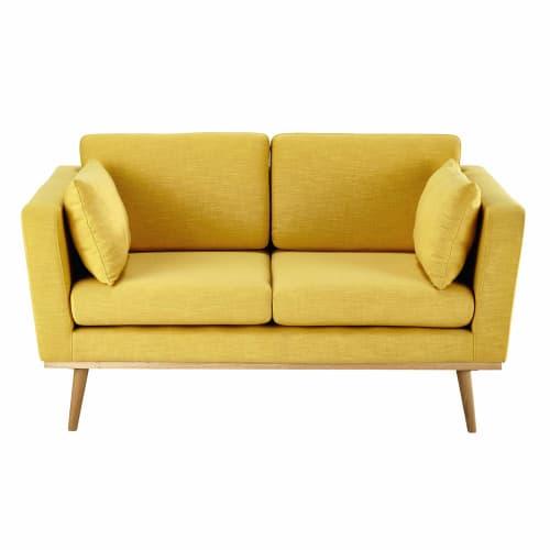 Canapé 8 places jaune  Maisons du Monde