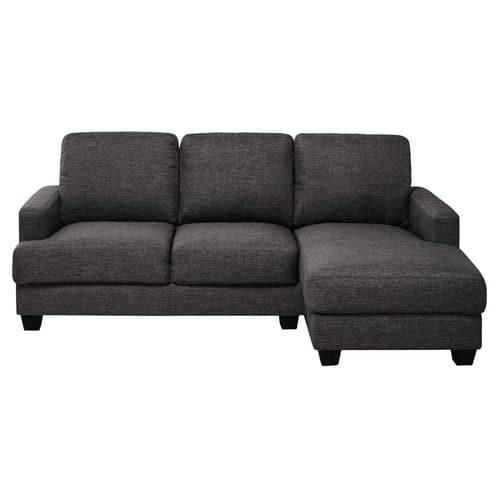 Canapé d\'angle droit 3/4 places gris chiné