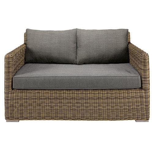 Canapé de jardin 2 places en résine tressé