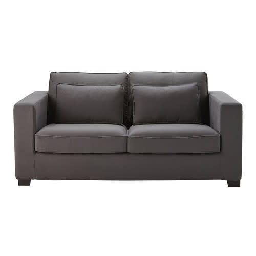 check-out 7729a 35da4 Canapé-lit 3 places en coton gris ardoise, matelas 6 cm