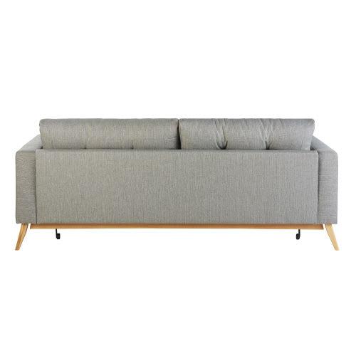 Canapé-lit style scandinave 3 places gris clair Brooke ...