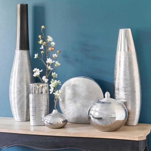 ceramic vase in silver H 9cm  Maisons du Monde