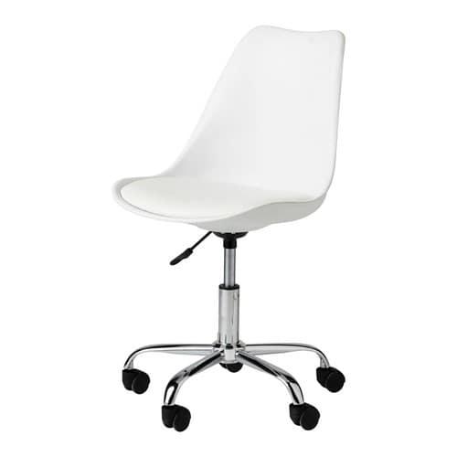 vente chaude en ligne d0a91 a7729 Chaise de bureau à roulettes blanche