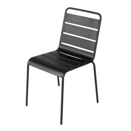 Chaise de jardin en métal noire