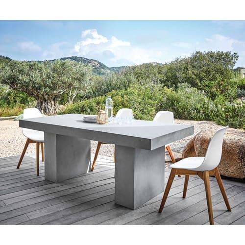 Chaise de jardin style scandinave blanche