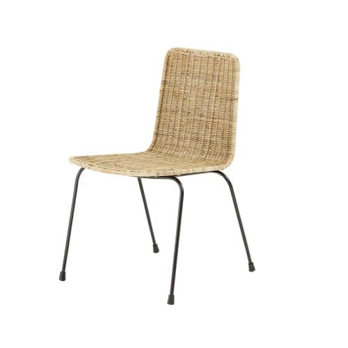 chaise en rotin zia maisons du monde. Black Bedroom Furniture Sets. Home Design Ideas