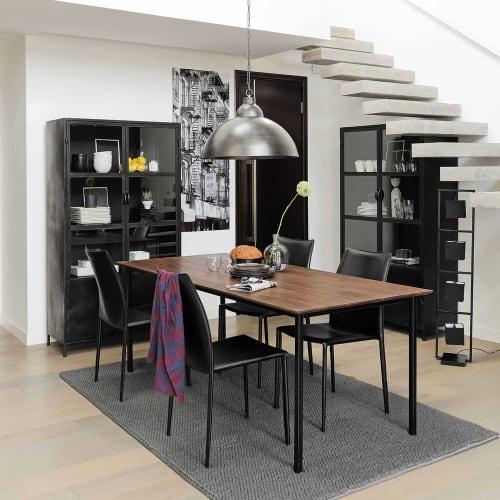 Chaise en synderme noir | Maisons du Monde