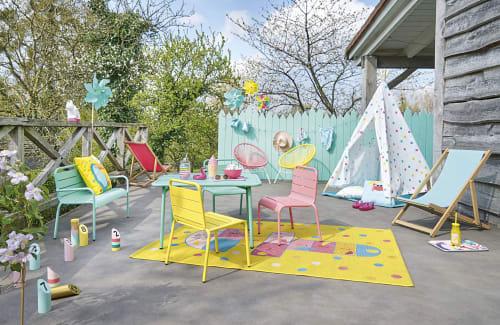 Chaise enfant en métal bleu turquoise Fun Summer | Maisons