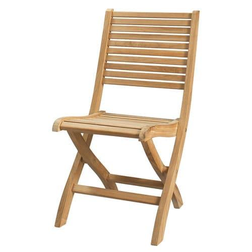 Chaise pliante de jardin en teck massif Oléron   Maisons du Monde