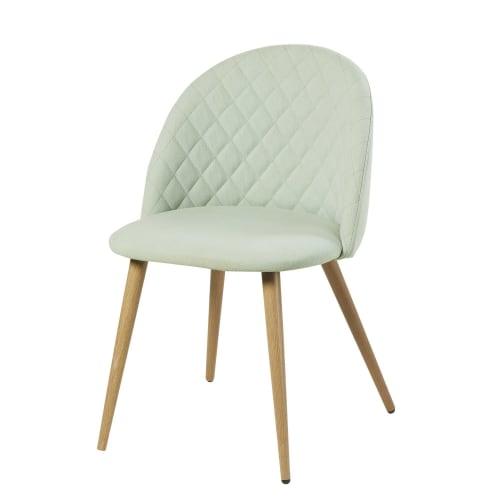 chaise vintage vert clair mauricette maisons du monde. Black Bedroom Furniture Sets. Home Design Ideas