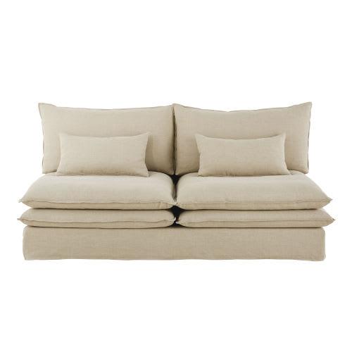 en soldes 09f2f b947b Chauffeuse de canapé 2 places en lin