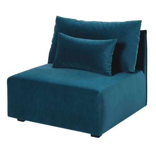 Chauffeuse de canapé en velours bleu paon Floyd | Maisons ...