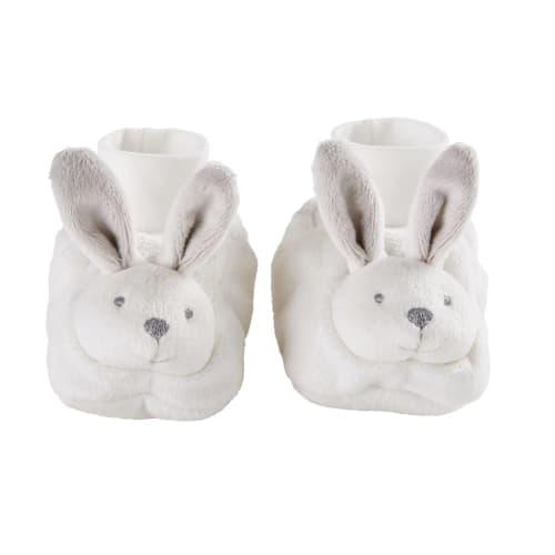 Chaussons d'éveil bébé lapin blanc