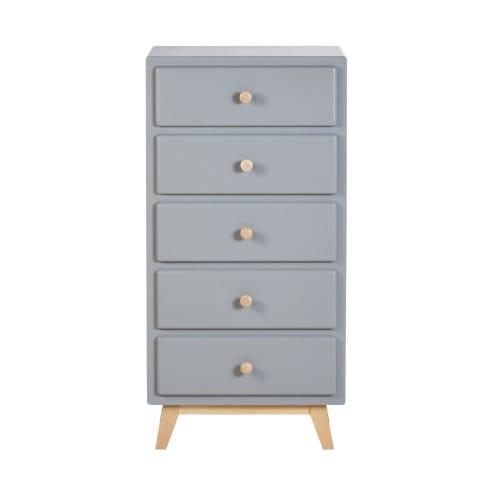 Chiffonnier vintage 8 tiroirs bleu gris  Maisons du Monde