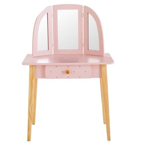 children 39 s light pink 1 drawer dressing table april maisons du monde