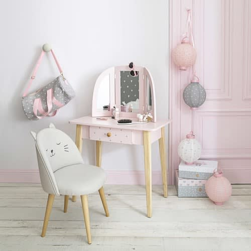 competitive price 9d753 4adb5 Children's Light Pink 1-Drawer Dressing Table
