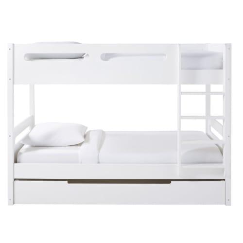 Letto A Castello Maison Du Monde.Children S White Bunk Beds 90x190 Galaxy Maisons Du Monde