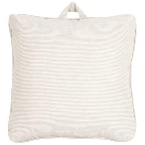 Cojín para silla de algodón a rayas blancas y azules SUEVOS