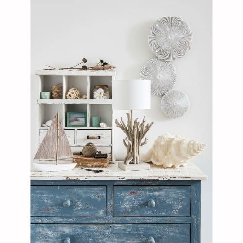 Commode En Manguier Bleue Effet Vieilli L 94 Cm Avignon Maisons