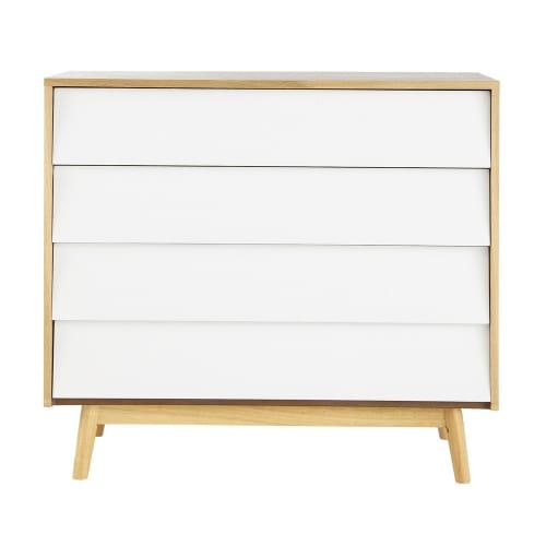 Commode vintage 9 tiroirs blanche  Maisons du Monde