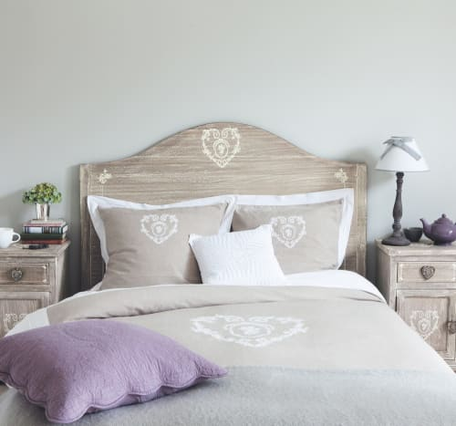 Copripiumino Maison Du Monde.Cotton Bedding Set In Beige 220 X 240cm Camille Maisons Du Monde