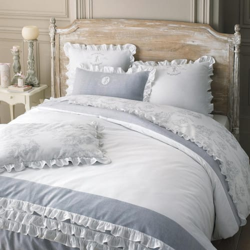 Copripiumino Maison Du Monde.Cotton Bedding Set In White 220 X 240cm Raphael Maisons Du Monde