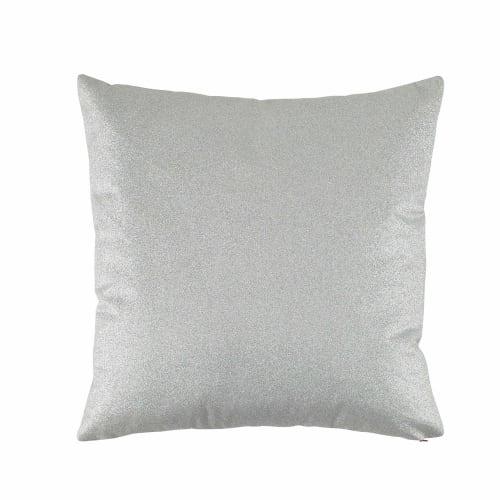 Coussin argenté 50 x 50 cm Silver | Maisons