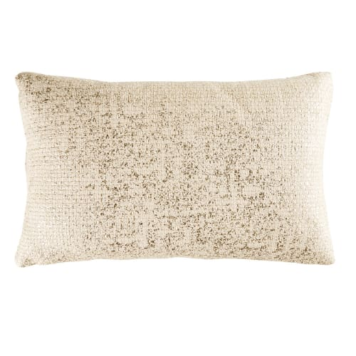 Coussin en coton doré 35x55 Diamondra   Maisons