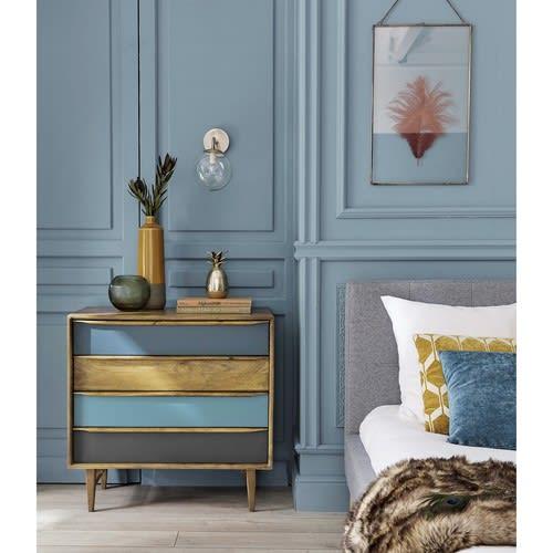 coussin graphique jaune moutarde et blanc 45x45 aston. Black Bedroom Furniture Sets. Home Design Ideas