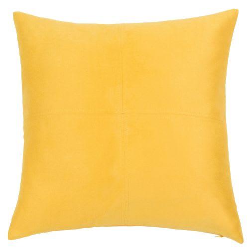 Coussin jaune 40x40