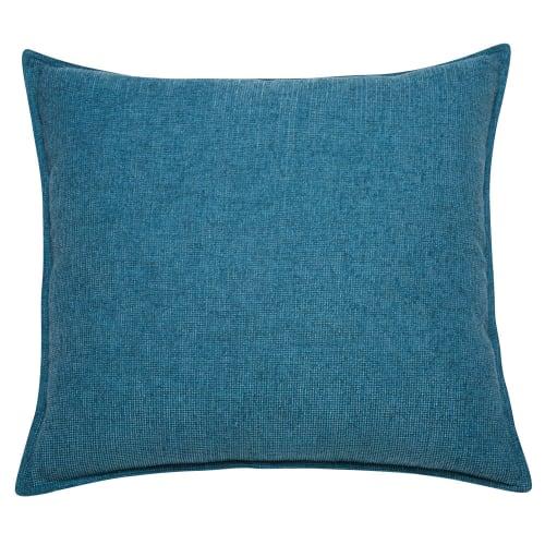 Cuscini Blu.Cuscino Blu Cobalto In Tessuto 60x60cm Chenille Maisons Du Monde