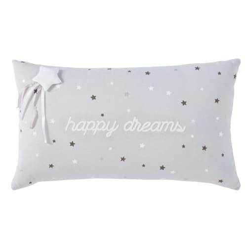 Cuscini Divano Maison Du Monde.Cuscino In Cotone Grigio Stampa Stelle 30x50 Cm Happy Dreams