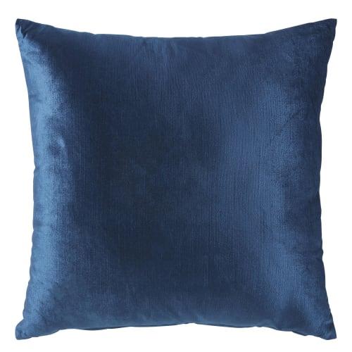 Cuscini In Velluto.Cuscino In Velluto Blu Zaffiro 45x45 Cm Venezia Maisons Du Monde