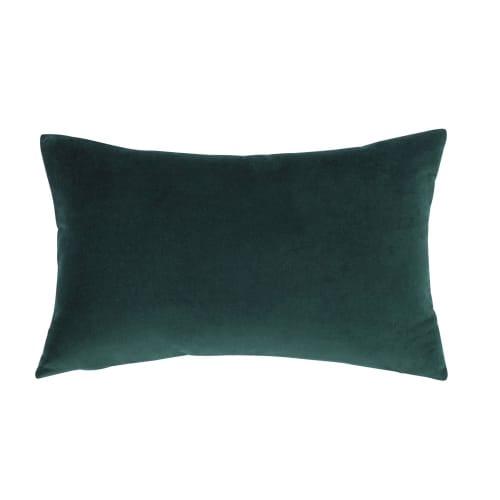 Cuscini Velluto.Cuscino In Velluto Verde Smeraldo 30x50 Maisons Du Monde
