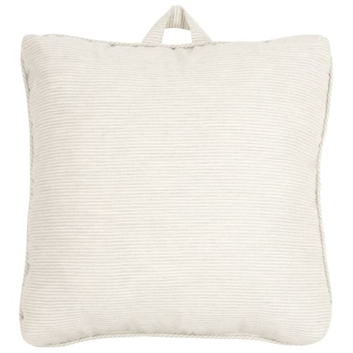 Cuscino per sedia in cotone con motivi a righe bianche e blu