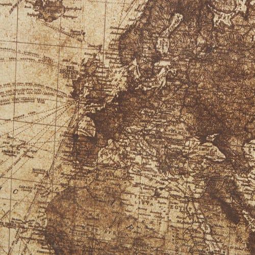Cartina Mondo Immagini.Decorazione Da Parete Con Stampa Cartina Del Mondo Anticata 121x91 Cm Jackson Maisons Du Monde